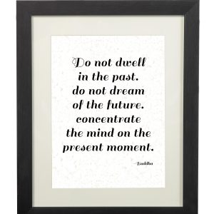 Bussha Quote Wall Print