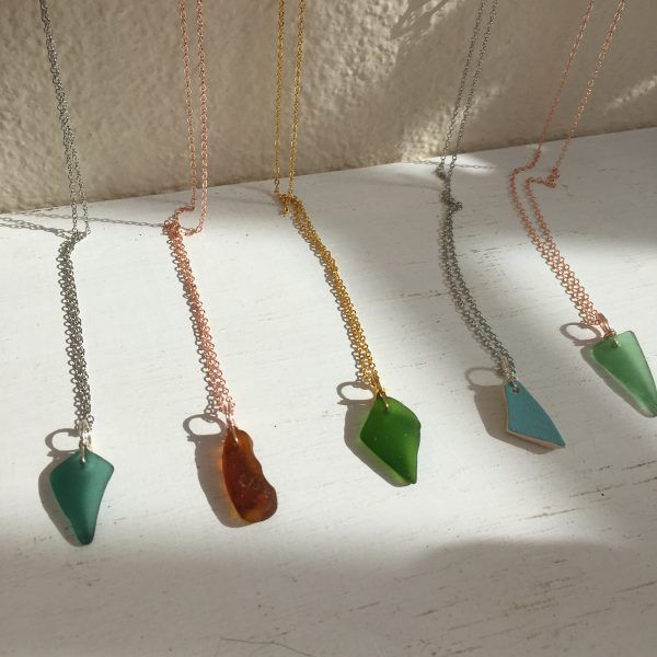 Simplicity - Sea Glass & Rose Gold necklace - D0A2A48B D825 4174 97EB 11B5FB53463F rotated