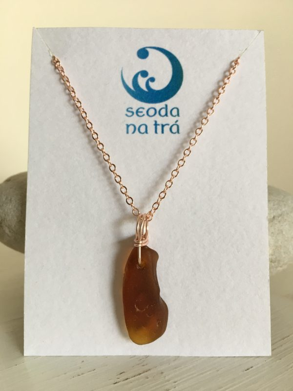 Simplicity - Sea Glass & Rose Gold necklace - D870BD90 B5F6 4F2E AF31 27CA38C2C66D rotated