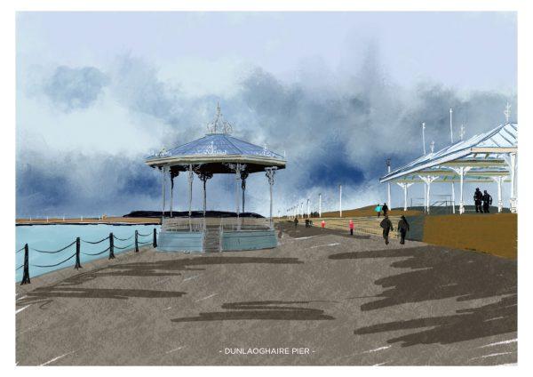 Dunlaoghaire Pier A4 Print