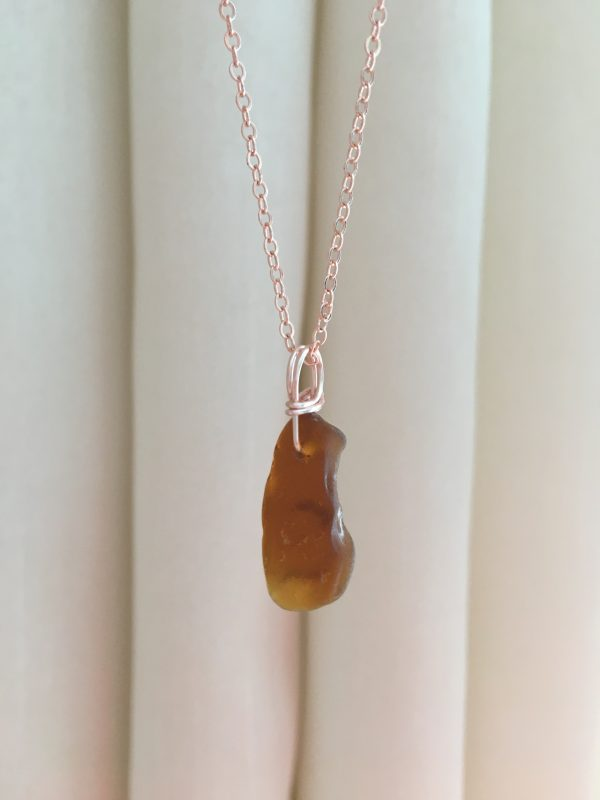 Simplicity - Sea Glass & Rose Gold necklace