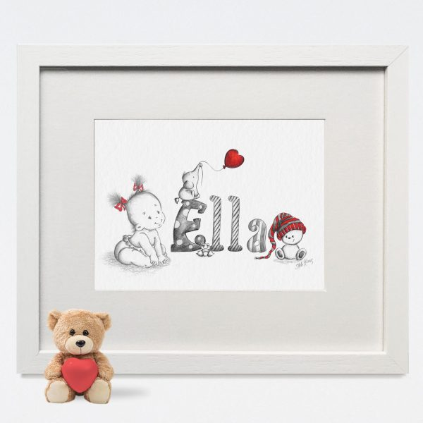 Baby/Child Name Prints - ELLA BABY GIRL NAME