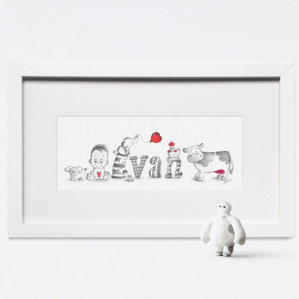 Baby/Child Name Prints - EVAN