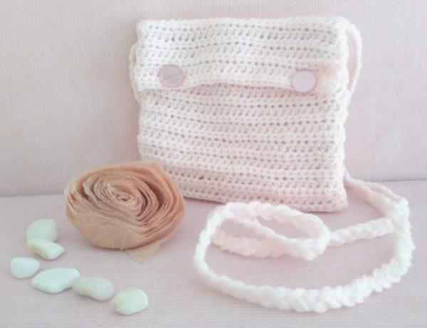 handmade crochet bag for first communion ireland