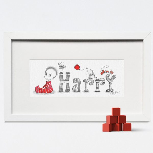 Baby/Child Name Prints - HARRY BABY