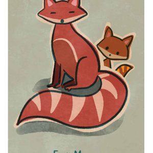 Foxy Mama... A4 Print