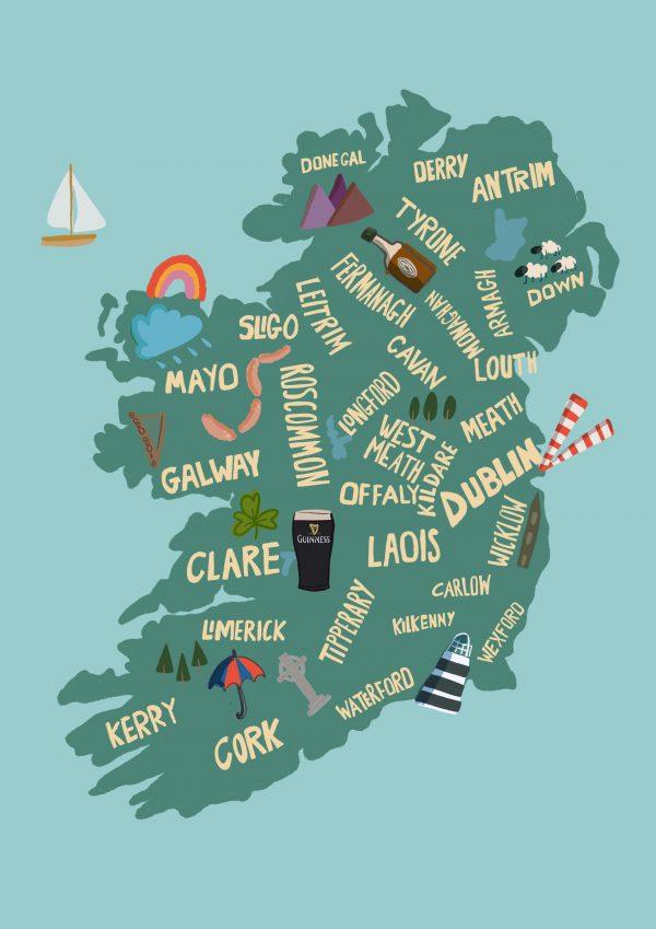 Everyone's a Little Irish A4 Print