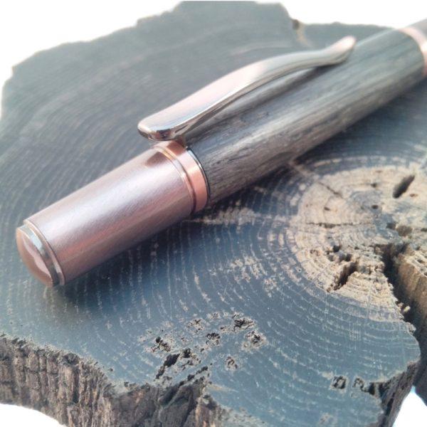 Irish Bog Oak Copper Ballpoint Pen - IMG 20180317 1434449 rewind