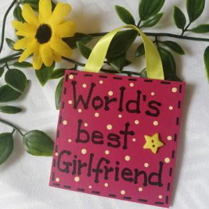 Mini Sign - World's best Girlfriend