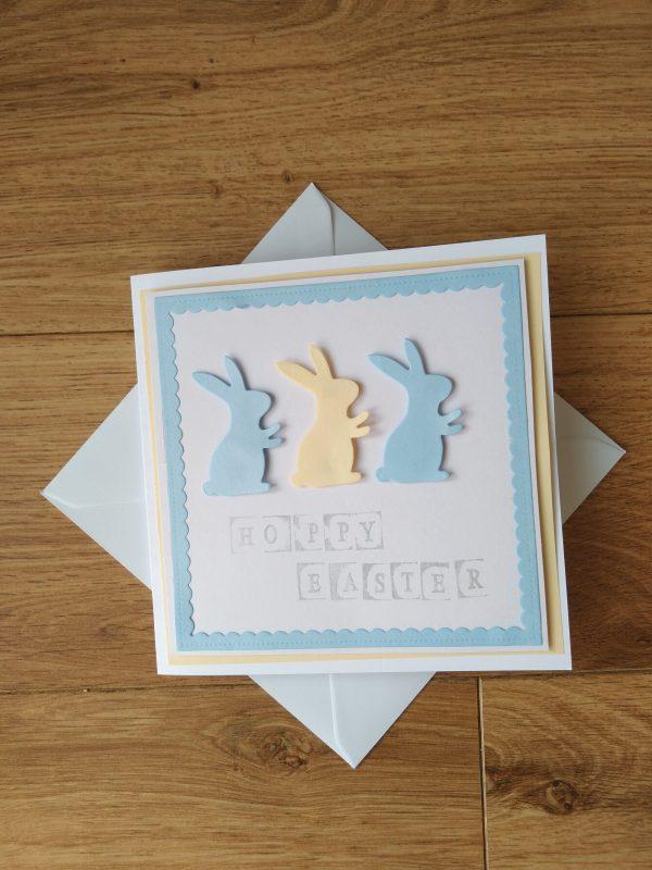 Easter Card Blue Bunnies