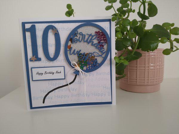 Personalised Balloon Happy Birthday Card