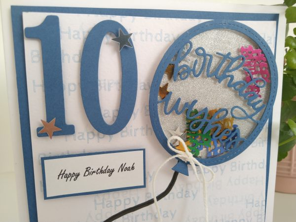 Personalised Balloon Happy Birthday Card, kid's birthday - IMG 20210317 144417105