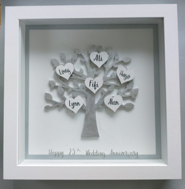 Silver Anniversary Family Tree Frame
