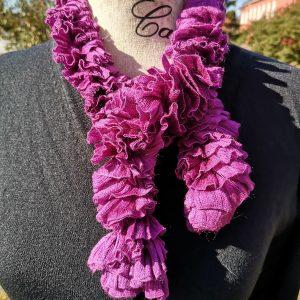 Fuschia Ribbon Scarf