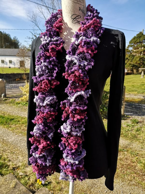 Forest Fruits - Pompom Ruffle Scarf - IMG 20210319 103406