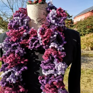 Forest Fruits - Pompom Ruffle Scarf
