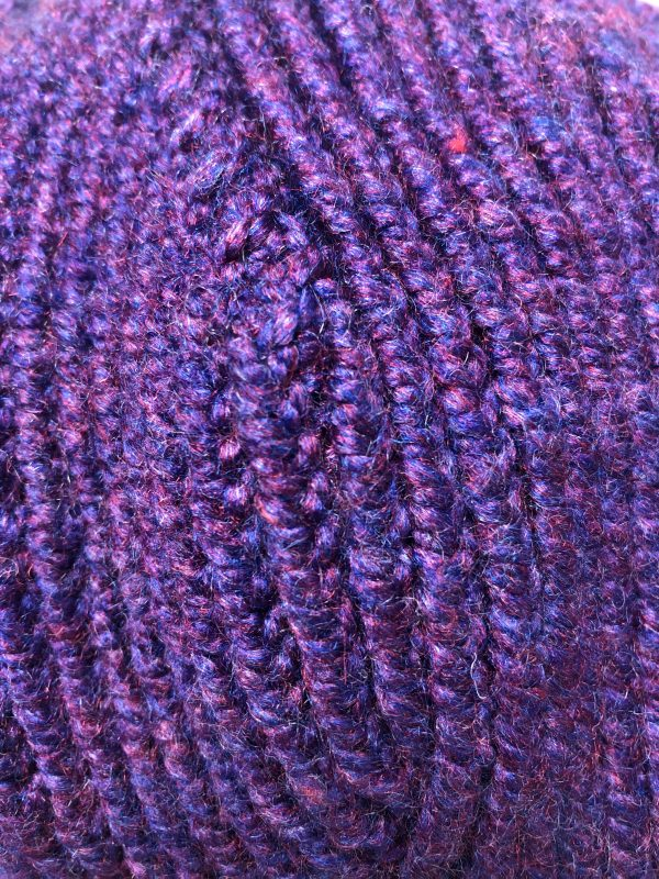 Handmade Knitted Purple Slouchy Hat - IMG 2795 rotated