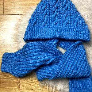 Handmade Blue Hat and Scarf
