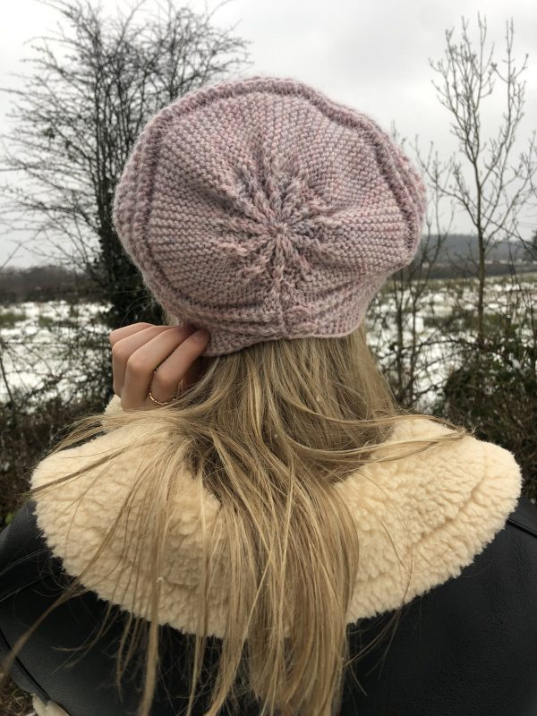 Handmade Pink Knitted Slouchy Hat - IMG 2848 rotated