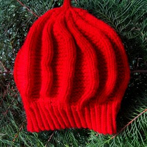 Hand Knitted Red Hat