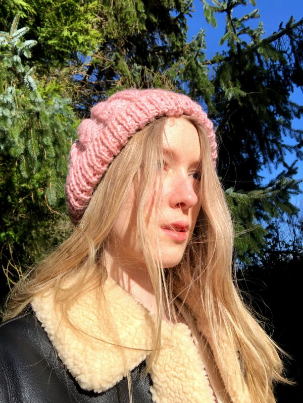 Hand Knitted Baby Pink Hat - IMG 3158
