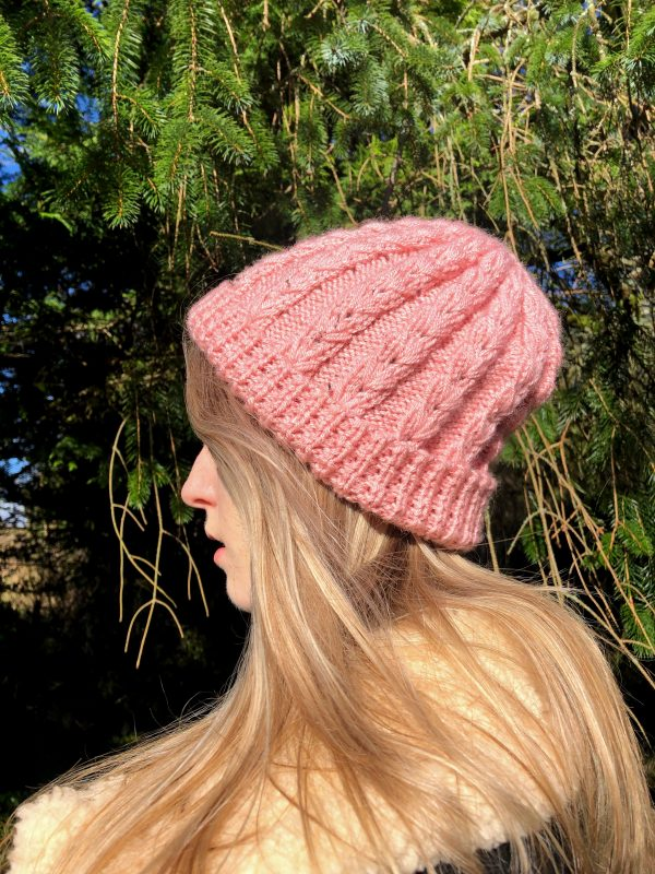 Hand Knitted Baby Pink Hat - IMG 3165