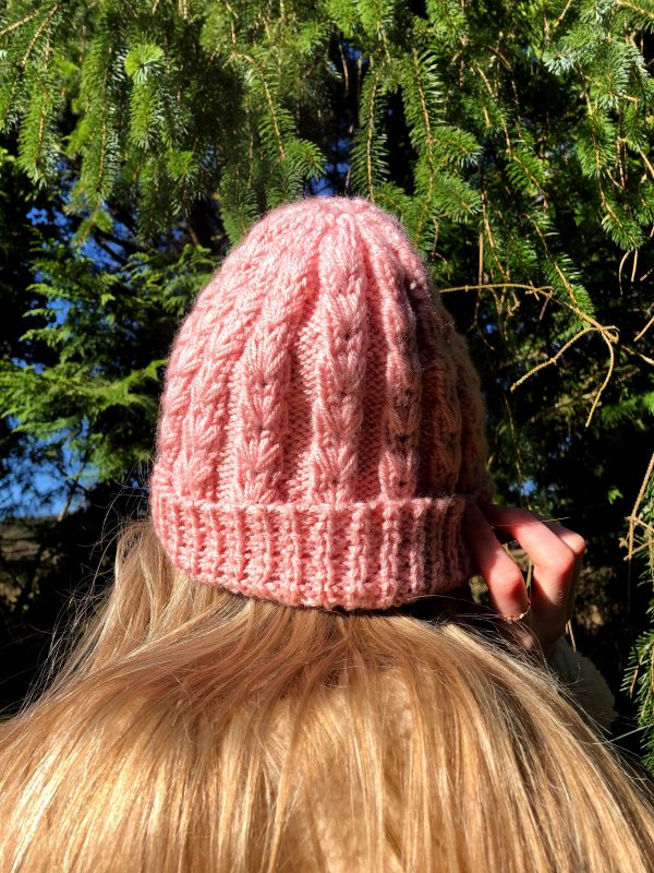 Hand Knitted Baby Pink Hat - IMG 3168