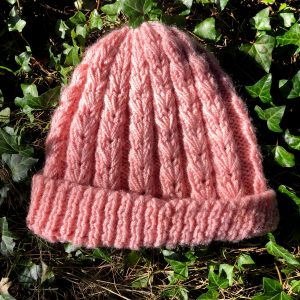 Hand Knitted Baby Pink Hat