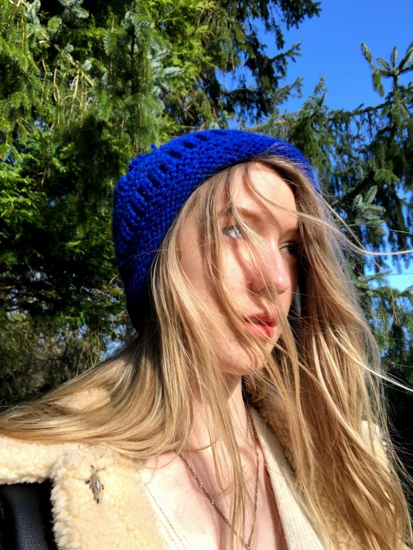 Hand Knitted Cobalt Blue Hat - IMG 3199