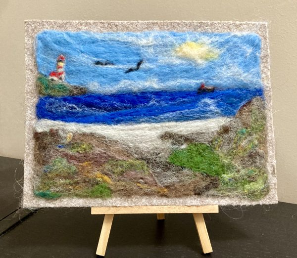South West Ireland Needlefelted Original Art