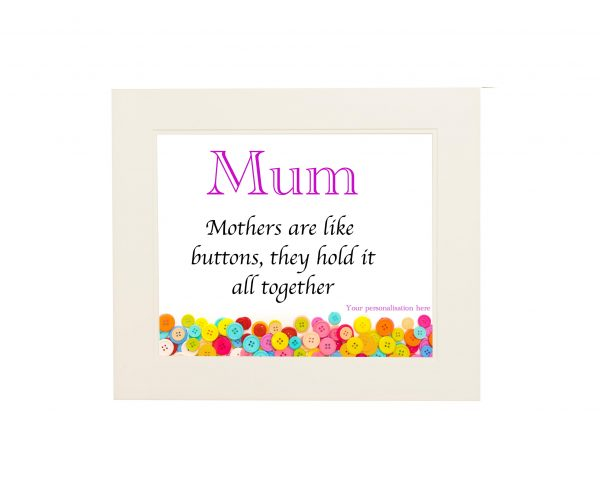 Mum's Are Like Buttons Wall Print