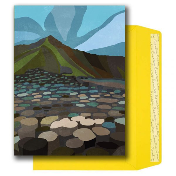 Illustrated Irish Places A5 Notelet Set - Notelets pack GiantsCauseway