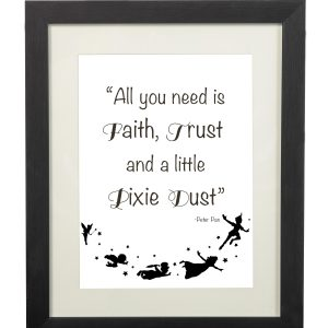 Peter Pan Quote Wall Print