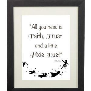 Peter Pan Quote Wall Print