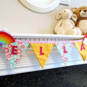 New Baby Gifts - Rainbow Bunting 4