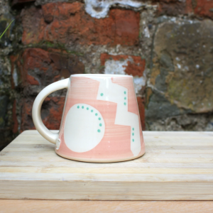 Pink handmade mug