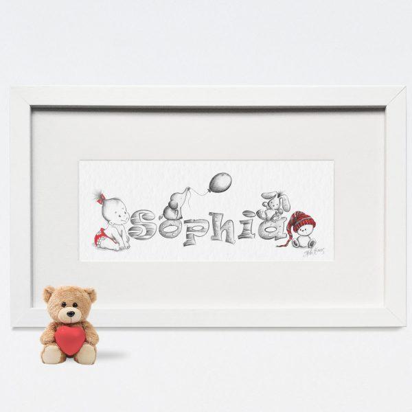 Baby/Child Name Prints - Sophia