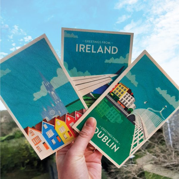 Greetings From Ireland - Wooden Postcard - St patricks Day