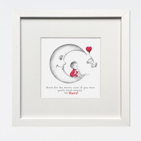 The Moon Nursery Print