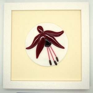 Fused-Glass Fuchsia Framed