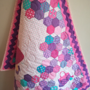 Girly Quilt With Perfectly Matching Backing and Binding