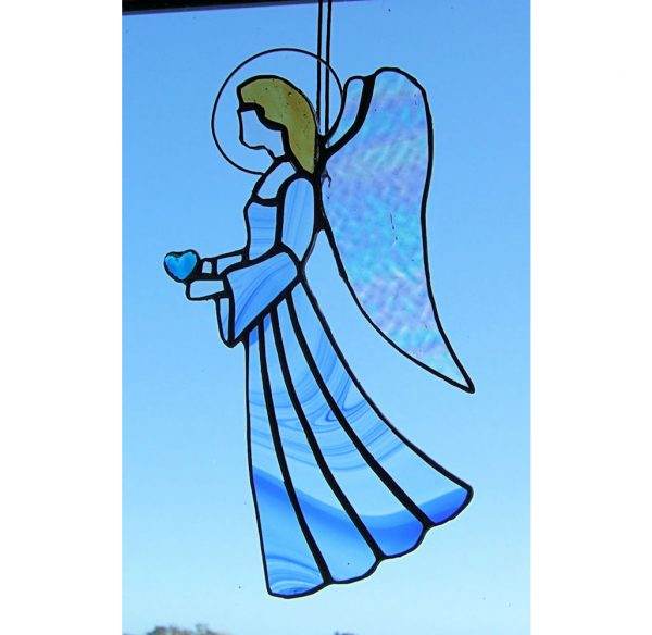 Stained-Glass Angel Suncatcher - large angel 1