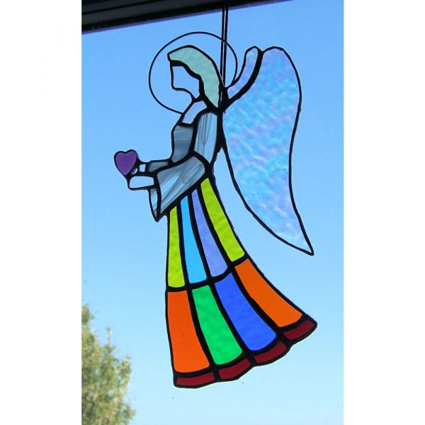 Stained-Glass Angel Suncatcher - large angel 2