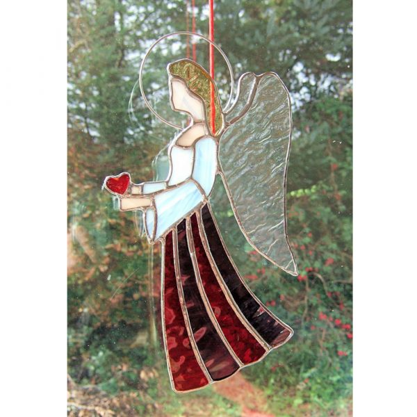 Stained-Glass Angel Suncatcher - large angel 4