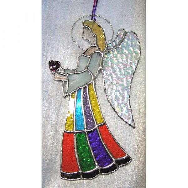 Stained-Glass Angel Suncatcher - large angel 6