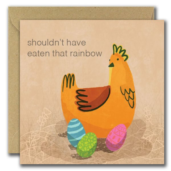 Shouldn't Have Eaten That Rainbow Easter Card