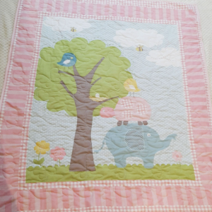 Pretty Pink Animals And Woodland Baby Quilt