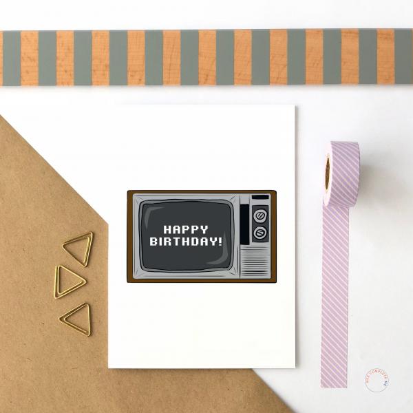 TV Happy Birthday Card