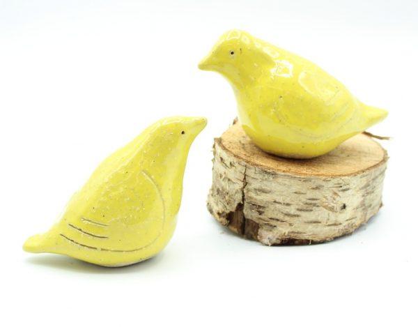 Ceramic Love Birds- Yellow - yellow 1