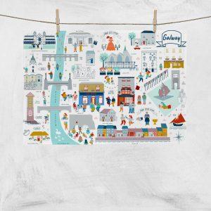 Galway City Tea Towel